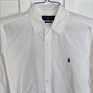 White Ralph Lauren Button Down Shirt